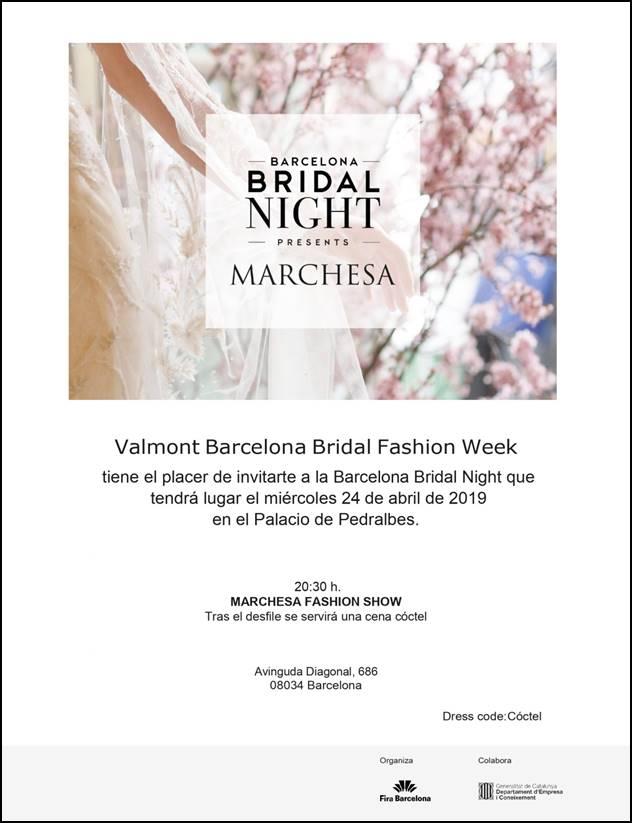 Desfile y cena Barcelona Bridal Night