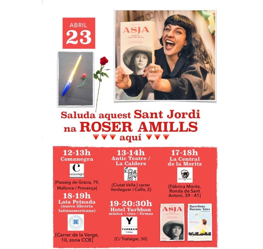 Firmas de Sant Jordi 2019 de Roser Amills