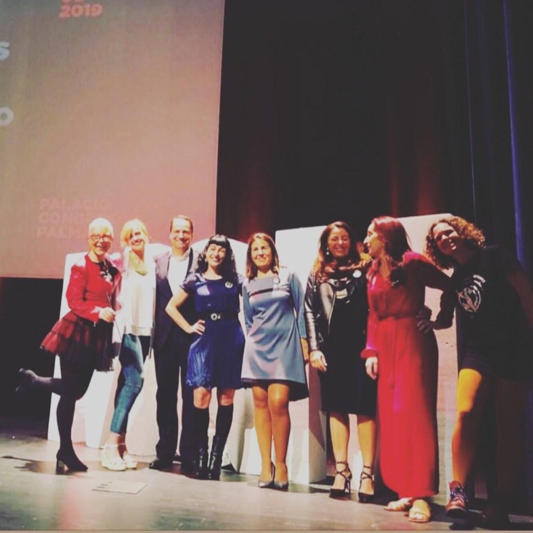 Maria Jesus Almazor, Roser Amills, Lidia Nicolau, Yas, Martha Zein y Belén Marrón en el II Foro Mujeres Que Marcan 2019