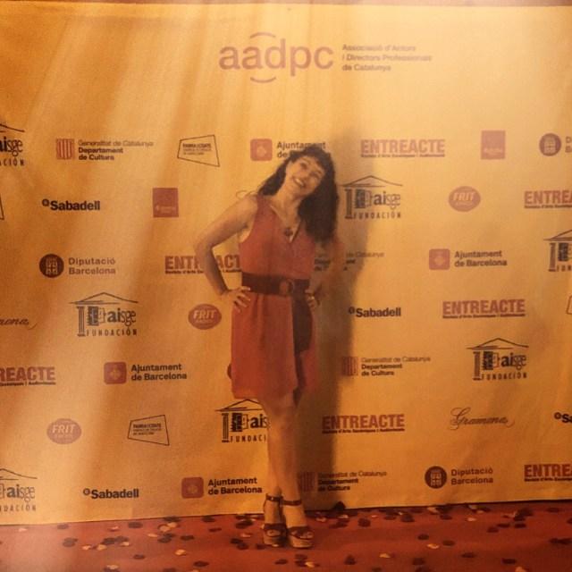 Roser Amills festa de l'Associació d'Actors i Directors Professionals de Catalunya (AADPC)