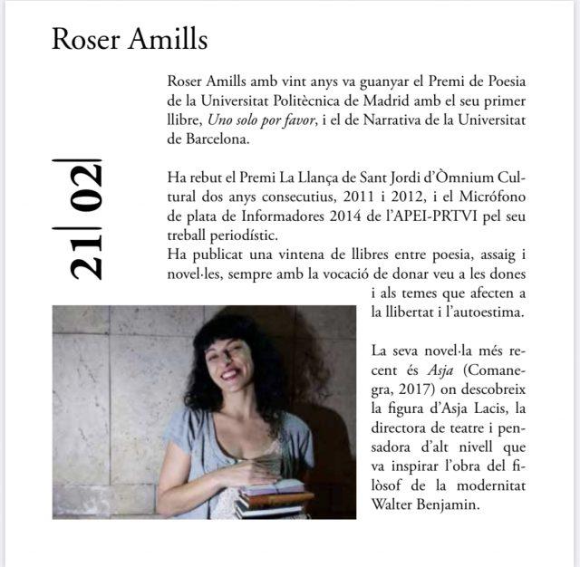 Converses #paraules2020 amb les escriptores Maria Escalas i Roser Amills