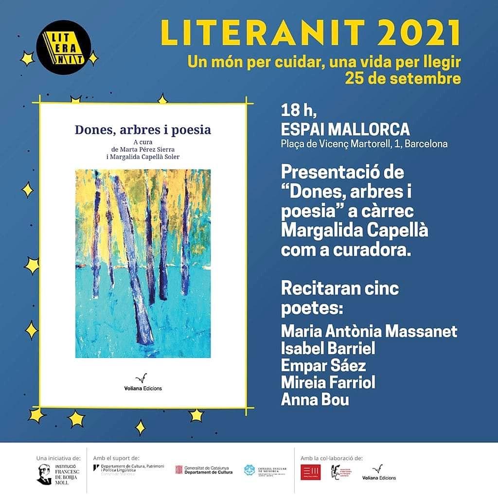 """Literanit 2021, presentem el volum """"Dones, arbres i poesia"""" (Voliana), amb textos de 130 autores"""