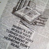Harry Potter dictionary print