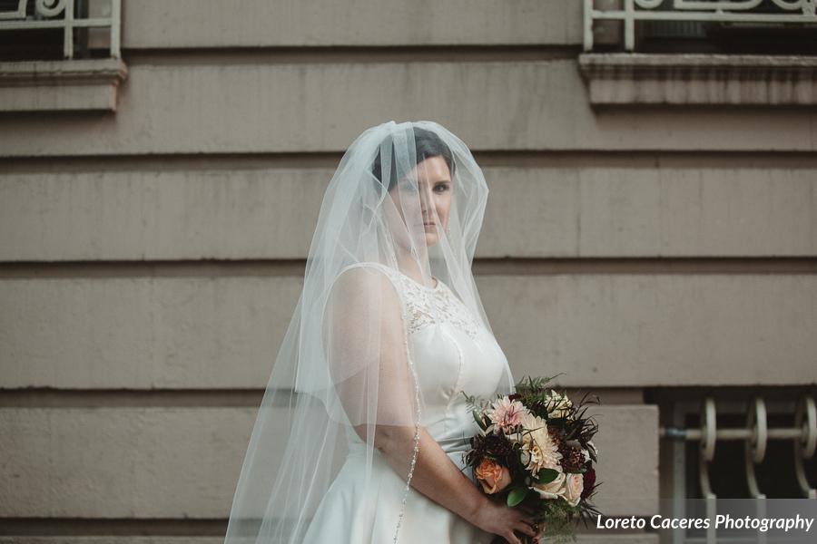 Bridal Veil, bride wearing a white dress