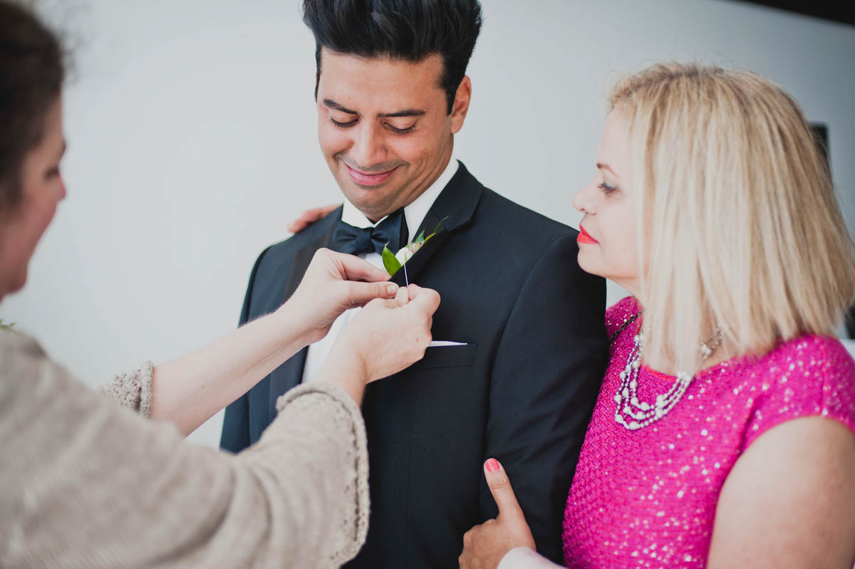 How to pin a boutionniere