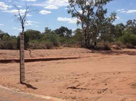 Dry river bed, Broken Hill, New South Wales