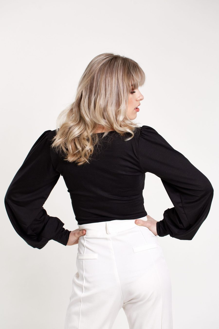 Our Day One top in black, the back