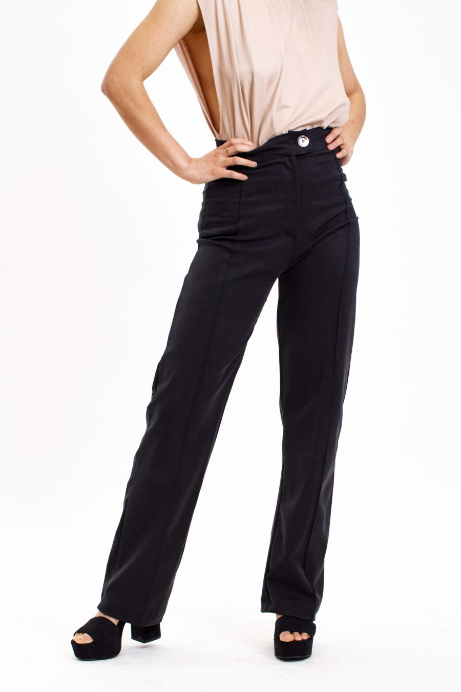 Dawn pants in black front 2