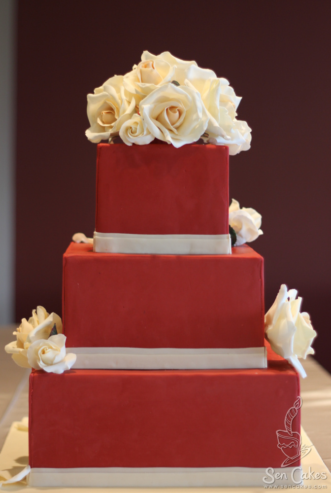 3  Red Wedding Cake   CakeStories ca 3  Red Wedding Cake