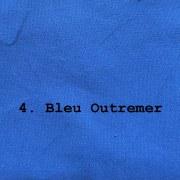 tissu coton épais bleu outremer