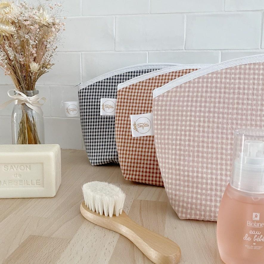 trousse de toilette personnalisable made in france tissu enduit