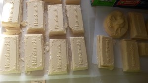 My first batch of homemade soap