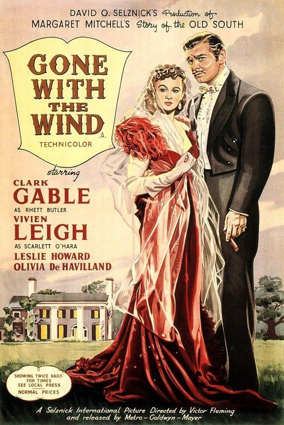 Gone With The Wind  --Vintage movie poster (777)