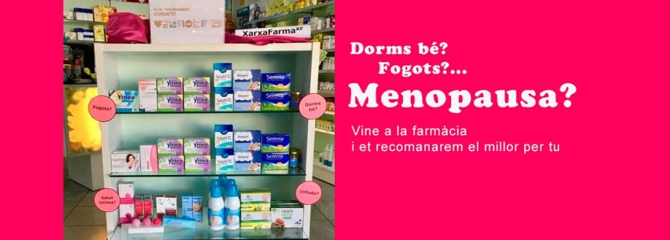Menopausa? Vine a farmàcia Bibiana de Roses i et recomanarem el millor per tu