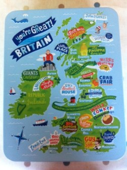 "Great! The M&Sshortbread tin, available throughout the UK depicts Wales as ""World Bogsnorkelling"""