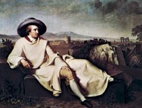 Goethe in the Roman Campagna, oil on canvas by Johann Heinrich Wilhelm Tischbein, 1787; in the Städel Museum, Frankfurt am Main, Germany.