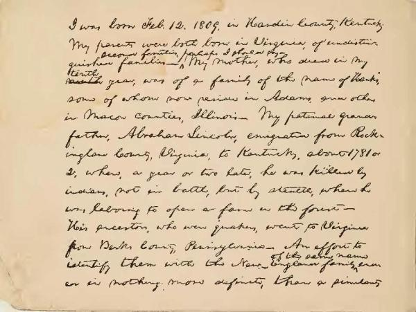 Image result for lincoln autobiographical sketch 1859