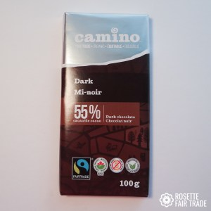 Dark chocolate 55% by Camino on Rosette Fair Trade