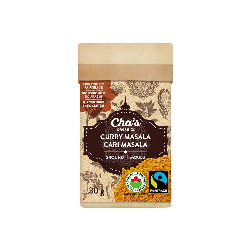 Cha's Organics curry powder (curry masala) is available at Rosette Fair Trade's online store