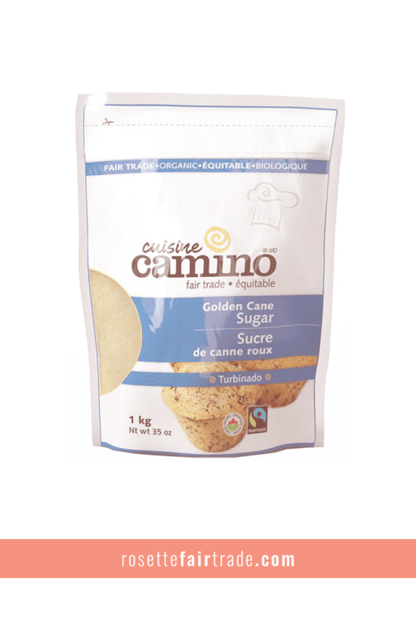 Fairtrade cane sugar by Camino on Rosette Fair Trade
