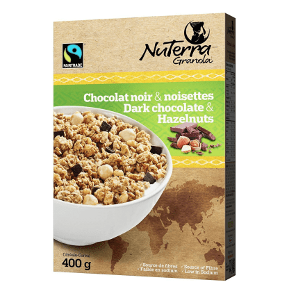 Fairtrade cereal by NuTerra Granola available on Rosette Fair Trade's online store