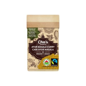 Cha's Organics Ayur Masala curry powder is available on Rosette Fair Trade's online store