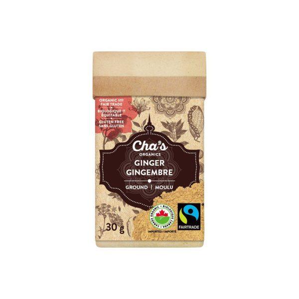Cha's Organics ground ginger on Rosette Fair Trade's online store