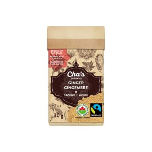 Cha's Organics ground ginger on Rosette Fair Trade's online store