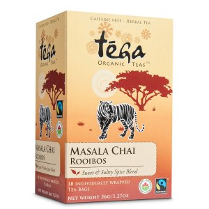 Fairtrade chai rooibos by Tega Organic Tea, available on Rosette Fair Trade's online store