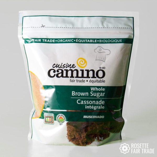 Whole brown sugar (muscovado) by Camino on Rosette Fair Trade