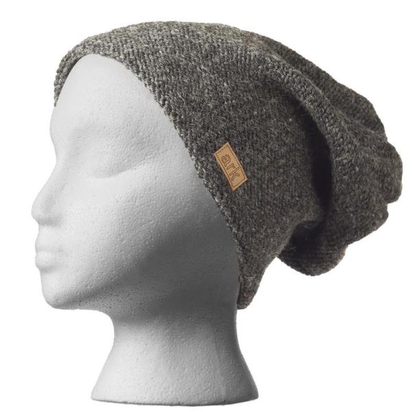Fair trade slouchy hat (Parkdale) by Ark Imports in charcoal grey colour on Rosette Fair Trade