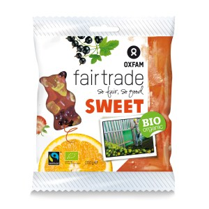 Gummy bears from Oxfam Fair Trade (candy) on Rosette Fair Trade