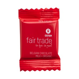 Mini Belgian milk chocolates by Oxfam Fair Trade on Rosette Fair Trade