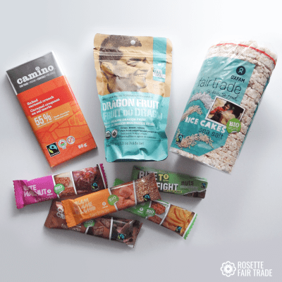Fair trade snack box subscription on Rosette Fair Trade online store