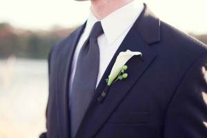 Rose Tuxedo Serving Gilbert, AZ Purple White Modern Washington DC Wedding Groom Boutonniere