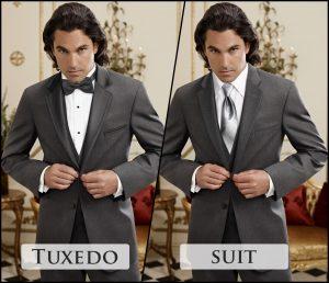 Rose tuxedo Grey suit or tuxedo