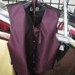 Cardi fullback vest and long tie