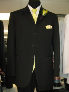 Jean Yves 3 button tuxedo with Lemon Yellow vest