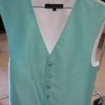 Tiffany blue vest for rent