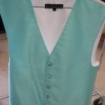 Tiffany blue vest for rent