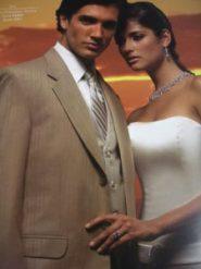 tuxedo bride and groom