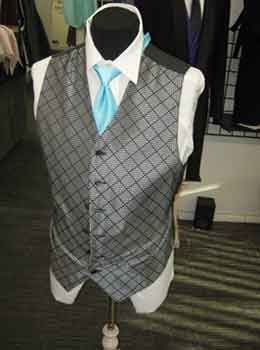 Tuxedo Checker vest with long tie