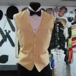 Matching long tie and bow available