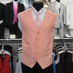Tangerine vest and long tie