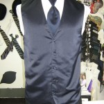 Navy Blue vest and tie