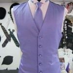 Lavender Vest and long tie