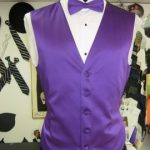 Purple vest and bow tie