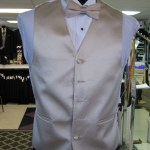 Ivory Vest and tie to match a brides Ivory dress