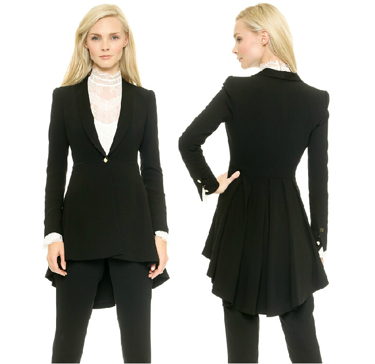 Black Tails look great on woman!! Rose Tuxedo has yours.