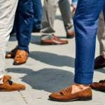 brown shoes tuxedo